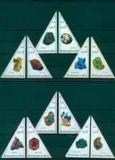 Minerals Mineralen Nature 12 MNH triangle stamps set