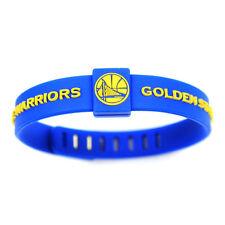 Golden State Warrio Silicon Bracelet Basketball Teams adjustable Wristband Strap