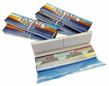 6 Packs Connoisseur Elements King Size Thin Rice Rolling Papers and Tips