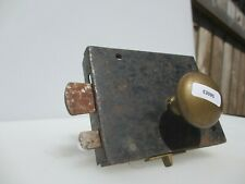 Georgian Wrought Iron Door Lock Latch Victorian Antique Brass Knobs Handles Old