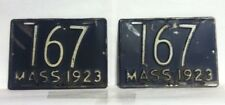 1923 MASSACHUSETTS Pair of Motorcycle License Plates (167)