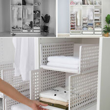 Portable Closet Storage Shelves Colthes Fabric Wardrobe Organizer Rack Shelf
