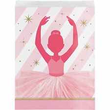 10 Twinkle Toes Ballerina Ballet Birthday Party Paper Loot Favor Bags
