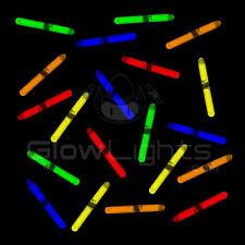 "(250) 1.5"" MINI GLOW STICKS - 5 ASST COLORS- FISHING GLO LIGHT - KIDS DJ PARTY"