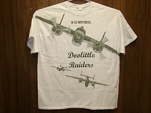 B-25 Mitchell Doolittle Raiders T-shirt w/ HUGE print on front -- Youth & Adult