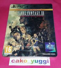 FINAL FANTASY XII THE ZODIAC AGE STEELBOOK EDITION SONY PS4 100% FR NEUF NEW