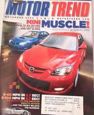 Motor Trend Magazine Mazda Speed 3 Subaru WRX November 2006 080317nonrh