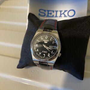 Seiko 5 Sports Men's Black Watch - SNK063J5