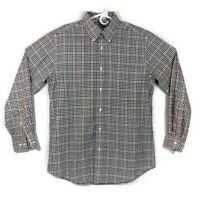 Orvis Shirt Medium Mens Long Sleeve Button Down Plaid Check Size Size Medium