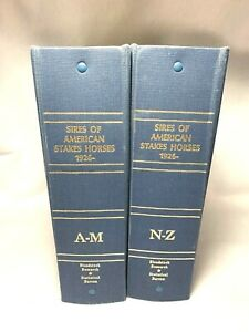 Sires of American Stakes Horses 1926-1975 (Two Volumes) Ring-bound Bloodstock