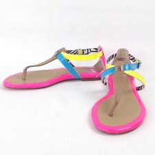 Sperry Top Sider Neon Leather Womens Gladiator T Thong Sandal 6.5 M Floor Sample