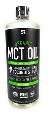 Organic MCT Oil 40 oz. Bottle Sports Research Keto Fuel Unflavored Coconut