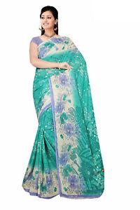 Chiffon Bollywood Karneval Sari Orient Indien Fo404