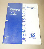 1998 New Holland 1475 Operator's Manual P/N 86565665