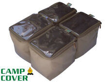 Camp Cover Wolf Box Pouches (4 quarters) - With Clear Tops - CCB004-D