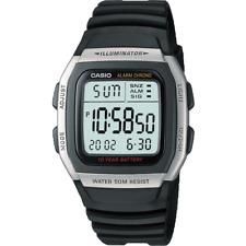 Genuine Casio Men's LCD Digital Black Resin Strap Watch 10 Year Battery Life