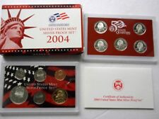"2004-S  11-COIN SILVER ""S-PROOF"" SET, San Francisco Mint, Display Case w/ COA #3"