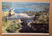 Drama of River and Sea...Reversing Falls, Saint John, N.B., Canada postcard