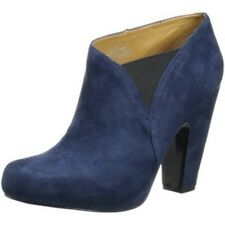 NEW in BOX Nine West Rockitude NAVY BLUE & Black Suede Ankle Bootie Boots US 12M