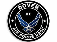 """4"""" DOVER AIR FORCE BASE DELAWARE HELMET CAR  BUMPER STICKER DECAL  USA MADE"""
