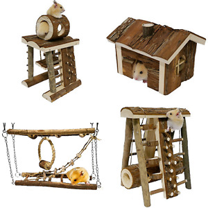 Rosewood Woodies Ultimate Hamster Cage Mouse Gerbil Natural Wooden Activity Toys
