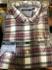 Authentic Nautica Red Plaid Long Sleeve NWT