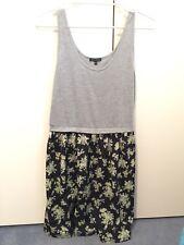 Womens Grey Black Green Multicoloured Floral Colourblock Dress