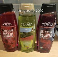 Avon SENSES Ladies Shower Gel CHERRY BOMB / GREEN TEA / EUCALYTUS x3 MIXED 500ml