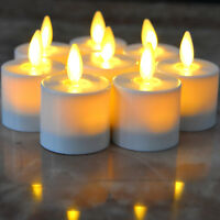 Luminara Moving Flame Battery operated Tea Lights Led Candles Xmas Candles Timer