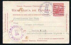 PANAMA POSTAL STATIONERY INDEPENDENCE CALIDONIA POSTMARK HOSPITAL CANAL ZONE 192