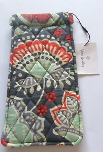 Vera Bradley Nomadic Floral sun glass sleeve- quilted-gray orange green purple
