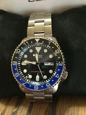 Seiko SKX009J1 Automatic Mens Divers Watch, sapphire crystal, fully lumed