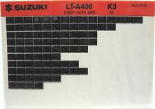 Suzuki LT-A400 Eiger Auto 2WD 2003 Parts Catalog Microfiche s513