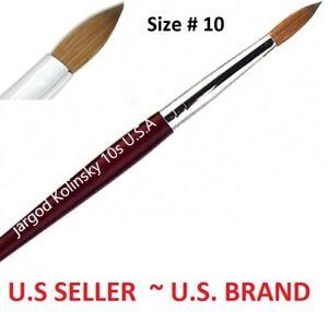 100% Pure Kolinsky Acrylic Round Nail Art Brush Size 10 (1pc)Top Quality Jargod