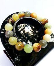 Bracelet Agate Vert en Pierre Minéral Naturelle Lithothérapie Bijoux Pour Femme