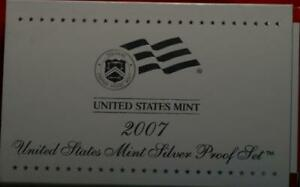 Uncirculated 2007 United States Silver Proof Set