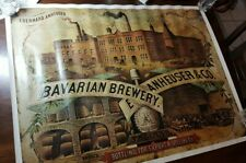 Anheuser-Busch Brewery Bavarian Beer poster bottling