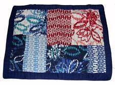 Steve Madden Allie Blue Batiks Standard Quilted Rows Pillow Sham NIP DISC Revman