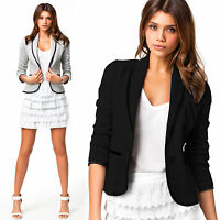 Womens Long Sleeve Blazers Suit Tops Office Casual Coat Jacket OL Slim Outwear
