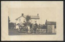 REAL PHOTO Postcard LISBON Ohio/OH Family Farm House & Horse Barn 2 views 1910's