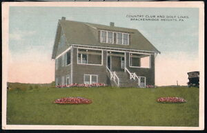 NATRONA HEIGHTS PA Brackenridge Heights County Club & Golf Links Vtg Postcard PC