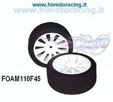 FOAM110F45 COPPIA RUOTE ANTERIORI ON ROAD 1/10 GOMME IN SPUGNA Rim &Tyre