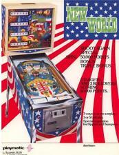 NEW WORLD By PLAYMATIC 1976 ORIGINAL NOS FLIPPER PINBALL MACHINE SALES FLYER