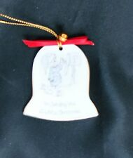 Enesco Precious Moments Bell Shaped Ornament Sending A White Xmas Free USA Ship