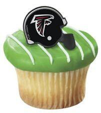 NFL Football Helmet Cupcake Topper Rings - Atlanta Falcons