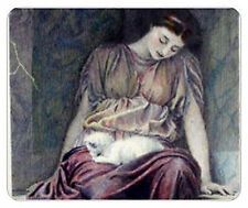 Woman & Cat Computer Mouse Pad. Unused. NEW