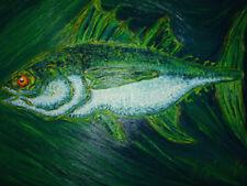TUNA FISH BIG GAME REEL OIL PAINTING SUSHI BOLD BIG GAME ANN S ELMER