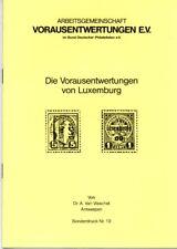 Preo, Precancel, Vorausentwertung, Broschüre Vorausentwertungen von Luxemburg