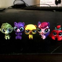 Lot 5PCS Littlest pet shop LPS monkey kangaroo angry dog cute animal figure toys