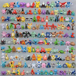 24-144pcs Pokemon Monster Mini Figure 2-3cm Action Figures in Cute Toys Random